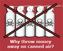 Safer than canned air